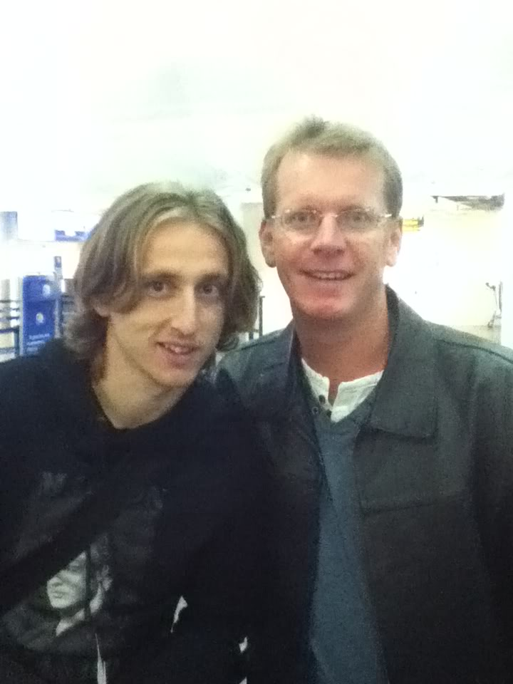 Tony with Luca Modric